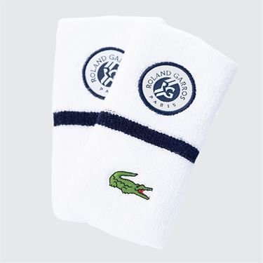 Lacoste Color Block Wristband - White/Navy Blue
