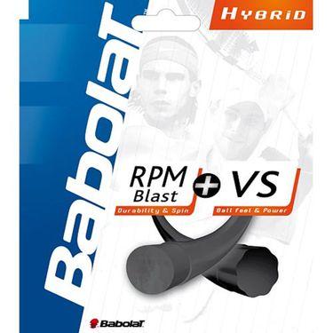 Babolat *HYBRID* RPM Blast 17(main) - VS Gut Black 16(cross)