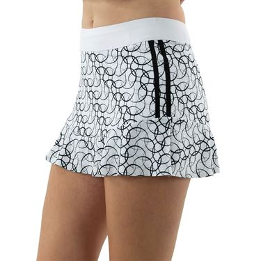 Inphorm Urban Soul Quinn Bottom Ruffle Skirt Womens Black Print/White S21026 0220û