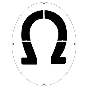 Tourna Horseshoe Stencil