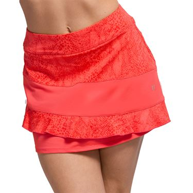 Eleven In The Curves Sun Bliss 13 inch Skirt Womens Coral SK135 830