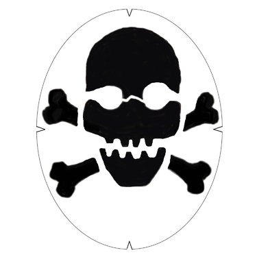 Tourna Skull and Crossbones Stencil