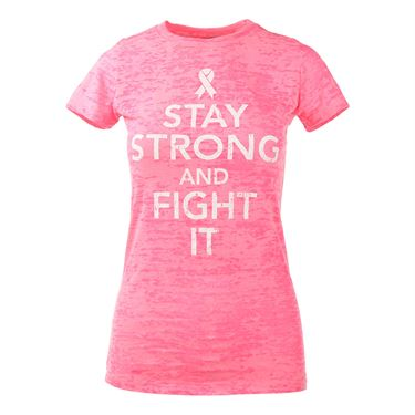 Love All Stay Strong T-shirt - Neon Pink Burnout