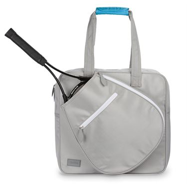 Ame and Lulu Sweet Shot 2 Tennis Tote - Grey/White Caps