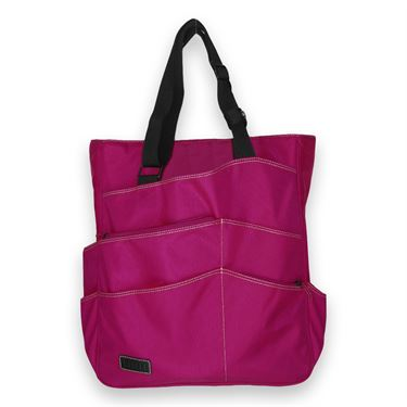 Maggie Mather Tennis Super Tote Fuchsia