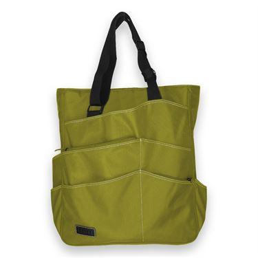 Maggie Mather Tennis Super Tote- Lime