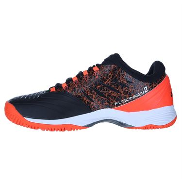 Yonex Power Cushion Rev 2 Clay Mens Tennis Shoe - Black/Orange