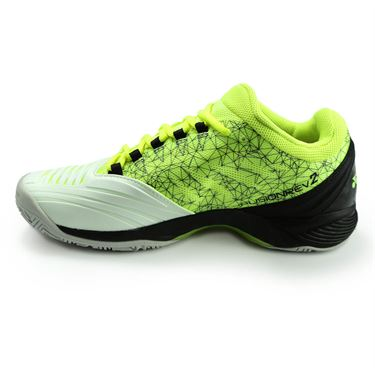 Yonex Power Cushion Fusion Rev 2 Mens Tennis Shoe - White/Yellow STFR2W