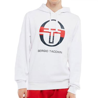 Sergio Tacchini Zion Hoodie Sweater Mens White/Navy/Red STMF2037704 108
