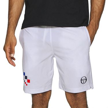 Sergio Tacchini Check Short Mens Optical White STMF2038780 116