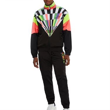 Sergio Tacchini Camporese Tracksuit Mens Black/Coral STMF2038903 170