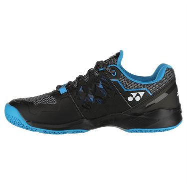 Yonex Power Cushion Sonicage Clay Mens Tennis Shoe - Black/Blue