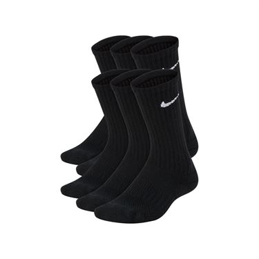 Nike Youth Performance Cushioned No Show Training Sock - Black/White