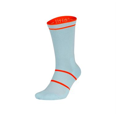 Nike Court Essentials Crew Sock - Half Blue/White