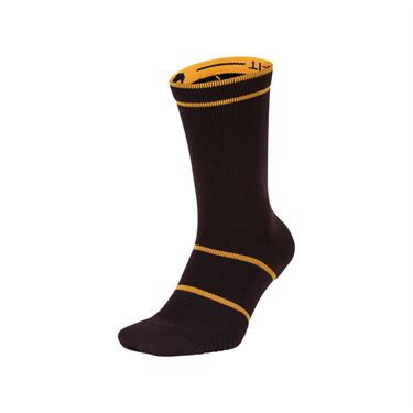 Nike Court Essentials Tennis Crew Sock - Burgundy Ash/Canyon Gold