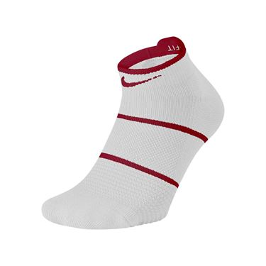 Nike Court Essentials No Show Tennis Sock - White/Team Red