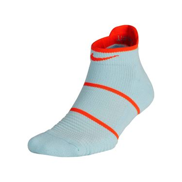 Nike Court Essentials No Show Socks - Topaz Mist/White