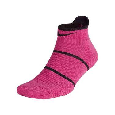 Nike Court Essentials No Show Socks - Active Fuchsia/White