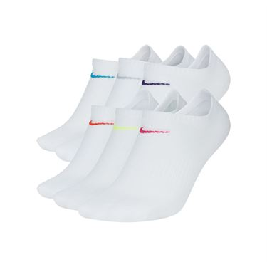 Nike Everyday Lightweight Training No Show Womens Sock - White/Multi