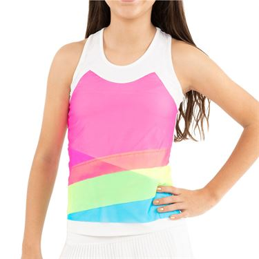 Lucky in Love Mad About Plaid Girls Mesh Layer Tank Multi T110 955