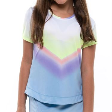 Lucky in Love Going Wild Girls Wild Ombre Top Cloud T187 F20418