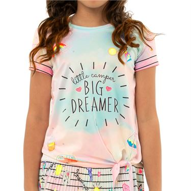 Lucky in Love Novelty Girls Big Dreamer Tee Shirt Multi T198 D22955