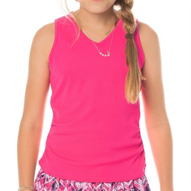 Lucky In Love Tropic Chroma Girls Stripe Rib Tank Shocking Pink/Horizon Ombre T202 824645