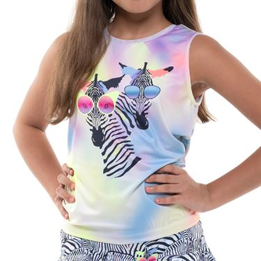 Lucky in Love Going Wild Girls Tie Tank Cloud T211 E80418