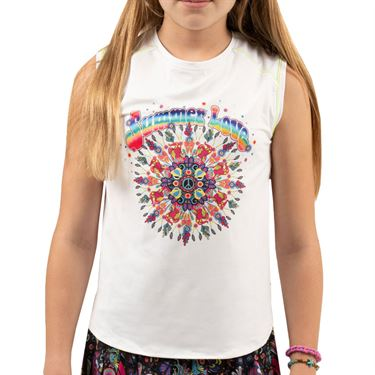 Lucky in Love Meshing Around Girls Summer Love Muscle Tank Multi T216 B11955