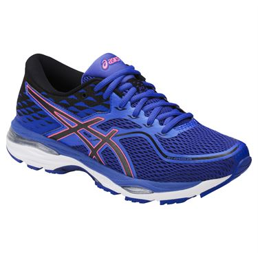 Asics Gel Cumulus 19 Womens Tennis Shoe - Blue Purple/Black/Flash Coral