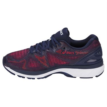Asics Gel Nimbus 20 Mens Running Shoe - Indigo Blue/Firey Red