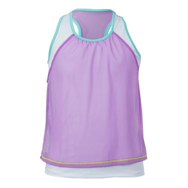 Lucky In Love Shoreline Girls Mesh Crop Tank - Lagoon