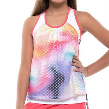 Lucky in Love Techno Tropic Girls Ombre Net Tank Punch T87 E26675