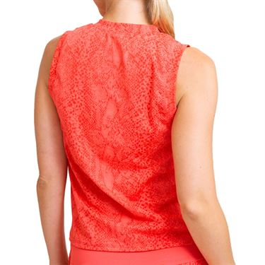 Eleven In The Curves Peace Maker Tank Womens Sunny Coral Snake TA129 992