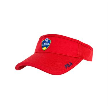 Fila Western and Southern Open Volunteers Visor - Chinese Red