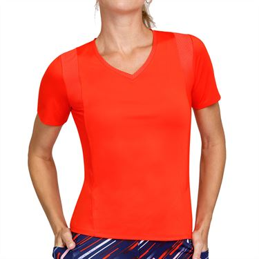 Tail Cascade Wonder Wesley V Neck Top Womens Cherry Tomato TA2778 1580