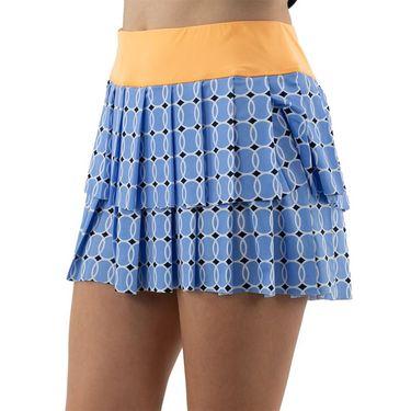 Jofit Ocean Breeze Pleat Layerd Skirt Womens Blue Tennis Balls TB0011 BTB