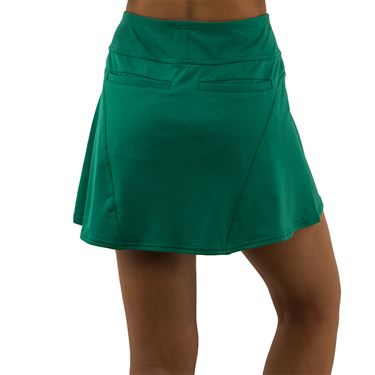 Jofit Appletini Paneled Swing Skirt Womens Emerald Jacquard TB167 EMD