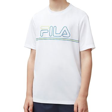 Fila Boys Serve Volley Crew White/Blue TB181C88 100