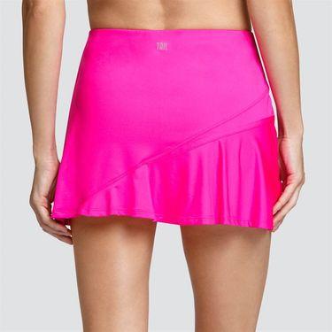 Tail Vivid Cerise Asymmetric Flounce Skirt - Cerise