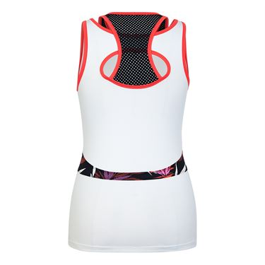Tail Paradise Layered Racerback Tank - White
