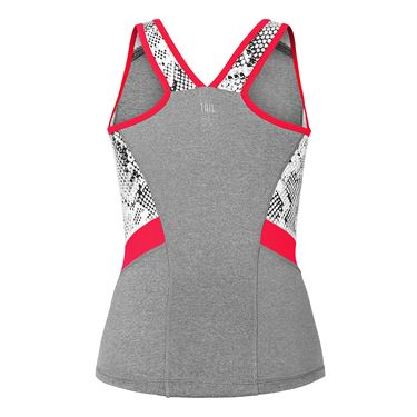 Tail Red Hot V Neck Tank - Frosted Heather