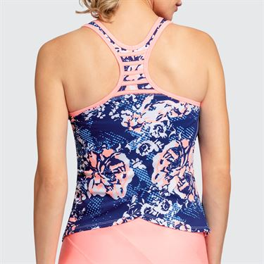 Tail Melon Punch Wrap Back Tank - Botanic Blue