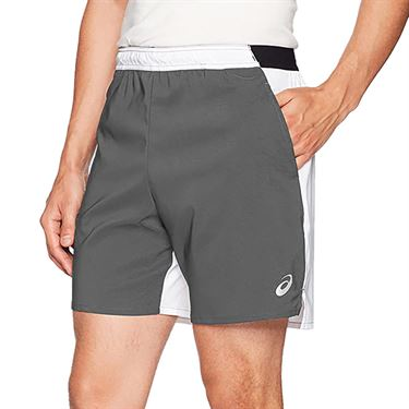Asics Centerline Short Mens Steel Grey/White TE3359 9401