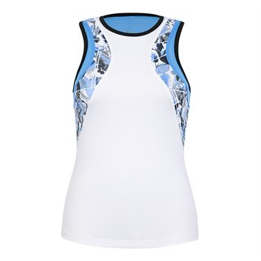 Tail Crossroads Calhoun Racerback Tank - White/Crossings Print