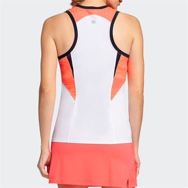 Tail Candy Coated Racerback Tank - White