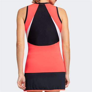 Tail Candy Coated Shaped Neckline Tank - Popsicle