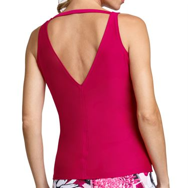 Tail Happy Hour Easy Fit V Neck Tank Womens Wine TF2641 1947