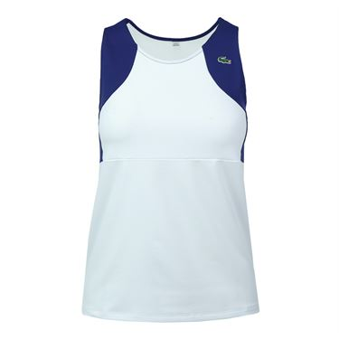 Lacoste Stretch Jersey Tank Tee - White