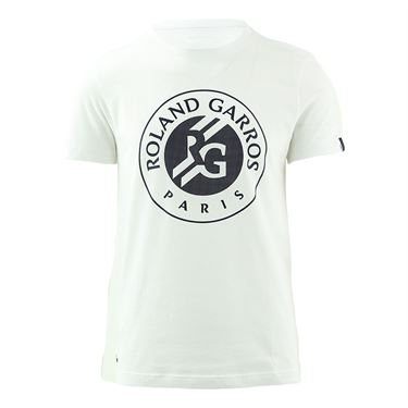 Lacoste Logo Tee Shirt Mens White/Navy Blue TH3605 AJ0